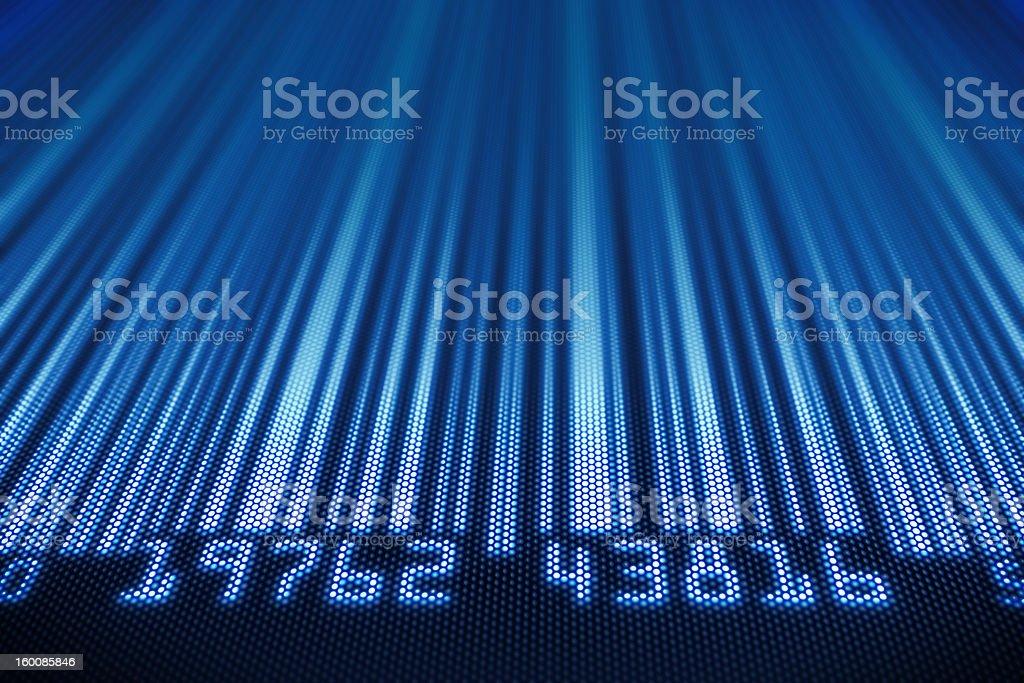 Abstract bar code design royalty-free stock vector art
