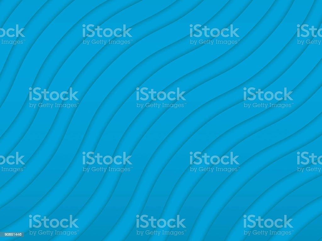 Abstract Big Blue Waves royalty-free stock vector art