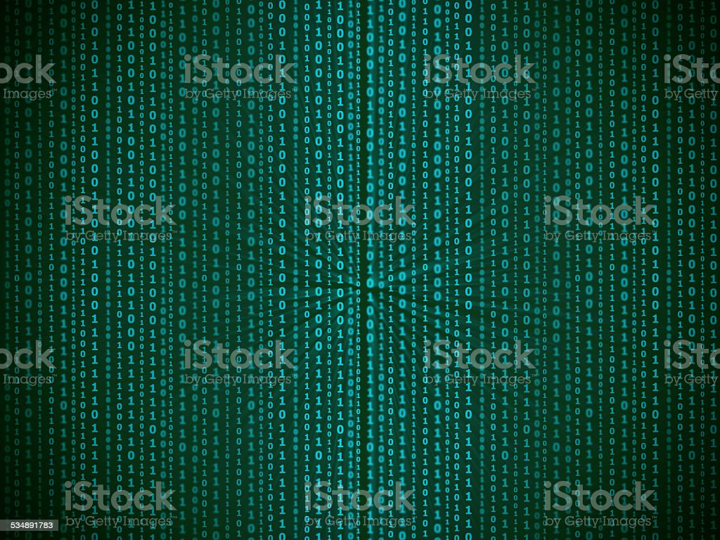 Abstract binary data code vector art illustration