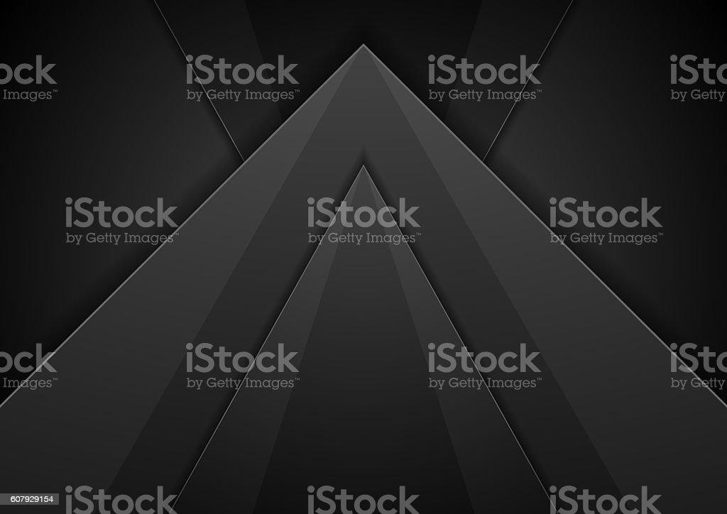 Abstract black concept technology background vector art illustration