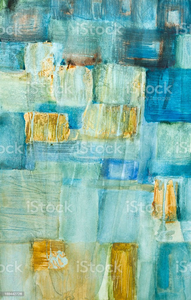 Abstract blue and yellow modern art vector art illustration