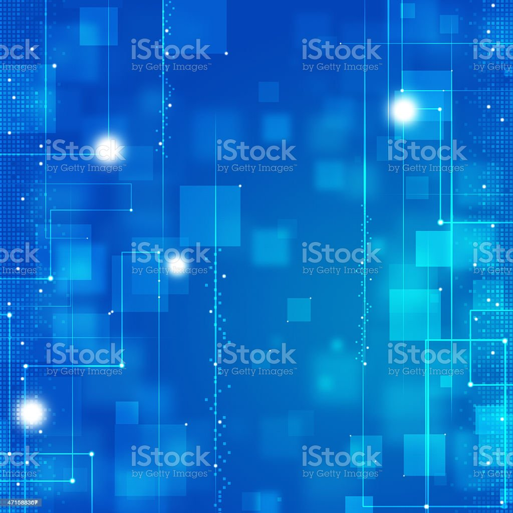 Abstract Blue Business Tech Background royalty-free stock vector art