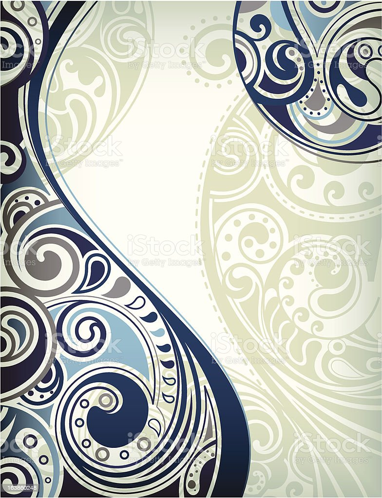 Abstract Blue Curve vector art illustration