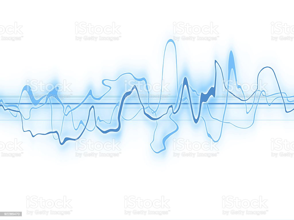 Abstract - Blue Energy  on White BG royalty-free stock vector art