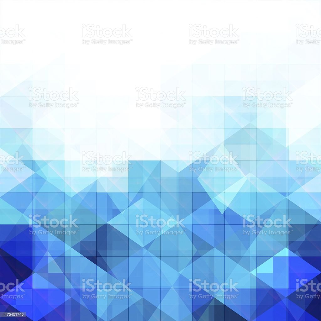Abstract blue geometric background vector art illustration