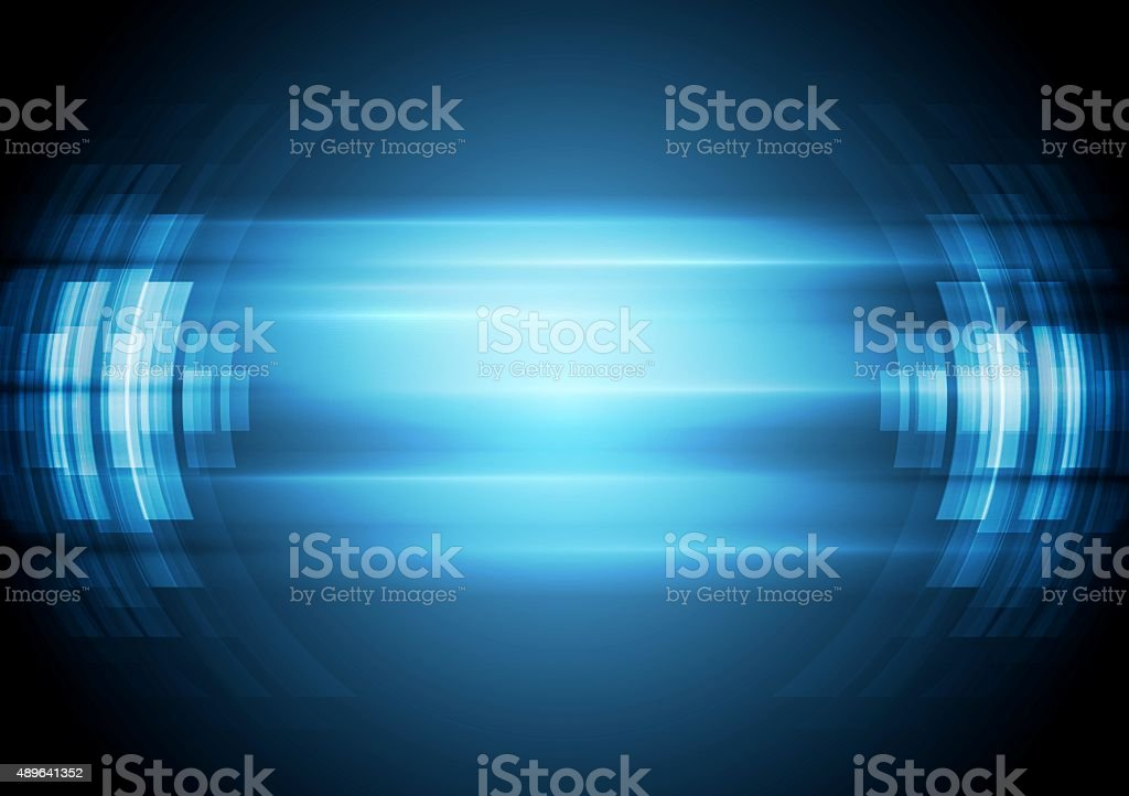 Abstract blue hi-tech background vector art illustration