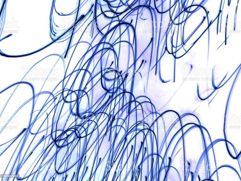 abstract blue light lines vector art illustration
