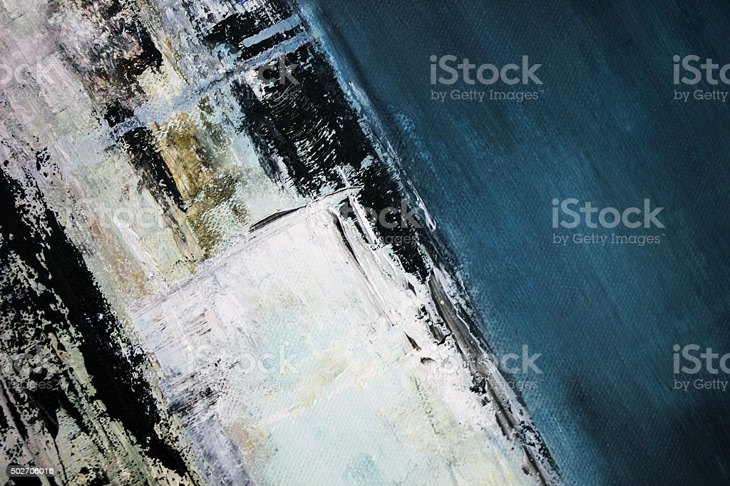 abstract blue oil painting stock photo