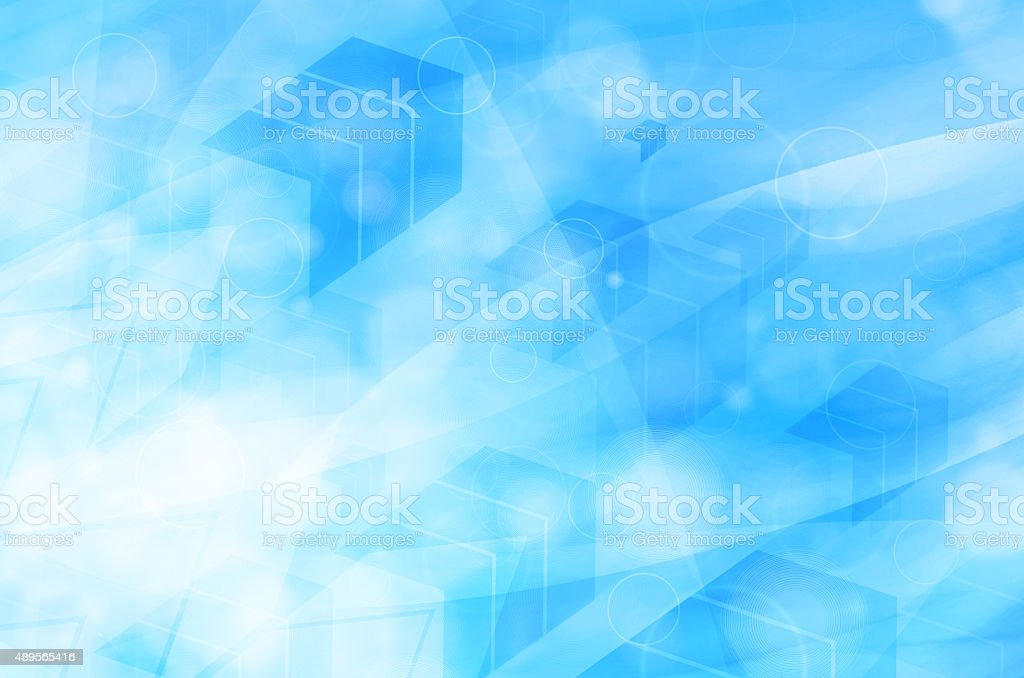 abstract blue technical background stock photo