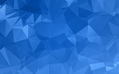 Abstract blue textured background with triangle shapes