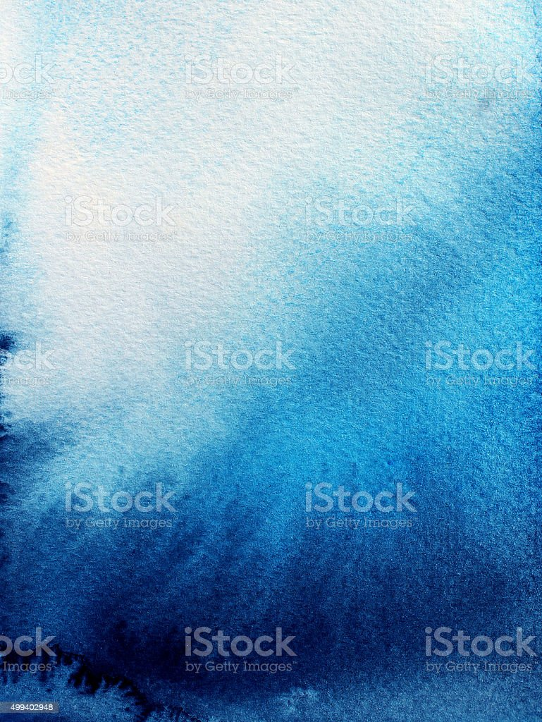 Abstract blue watercolor background. vector art illustration