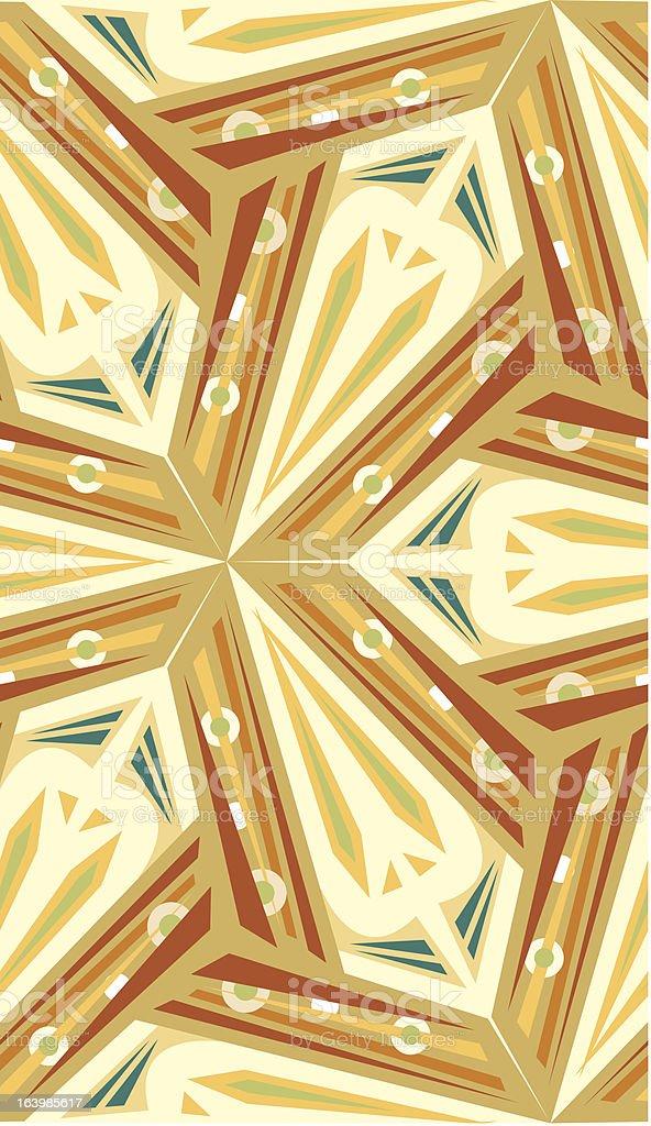 Abstract Boomerang Pattern royalty-free stock vector art