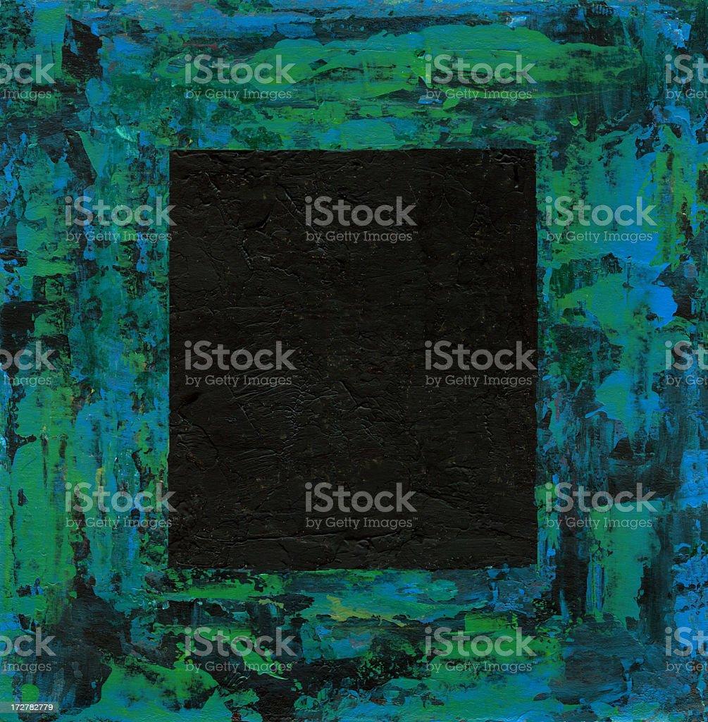 Abstrakte Grenze auf schwarzem Hintergrund, Maki und gescannt Lizenzfreies vektor illustration
