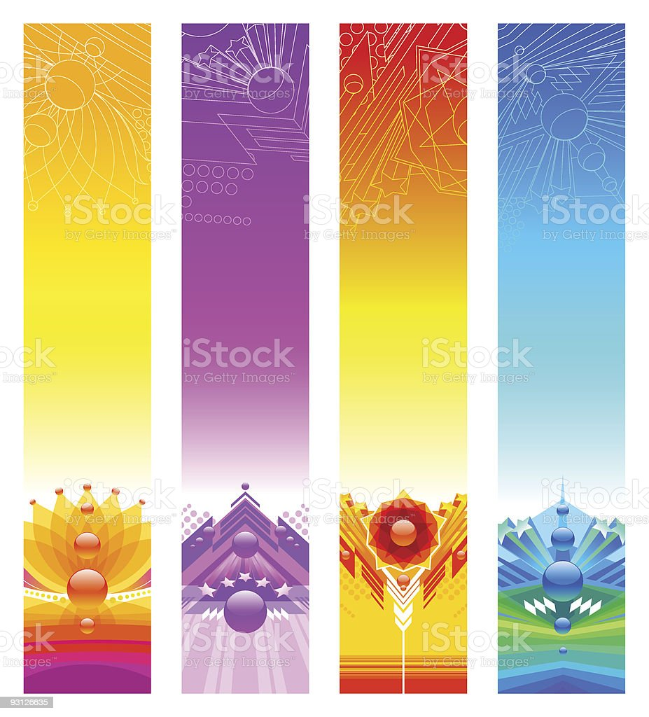 Abstract bright colorful banners royalty-free stock vector art