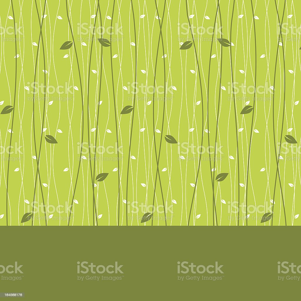 Abstract card design with leaves  seamless pattern background royalty-free stock vector art