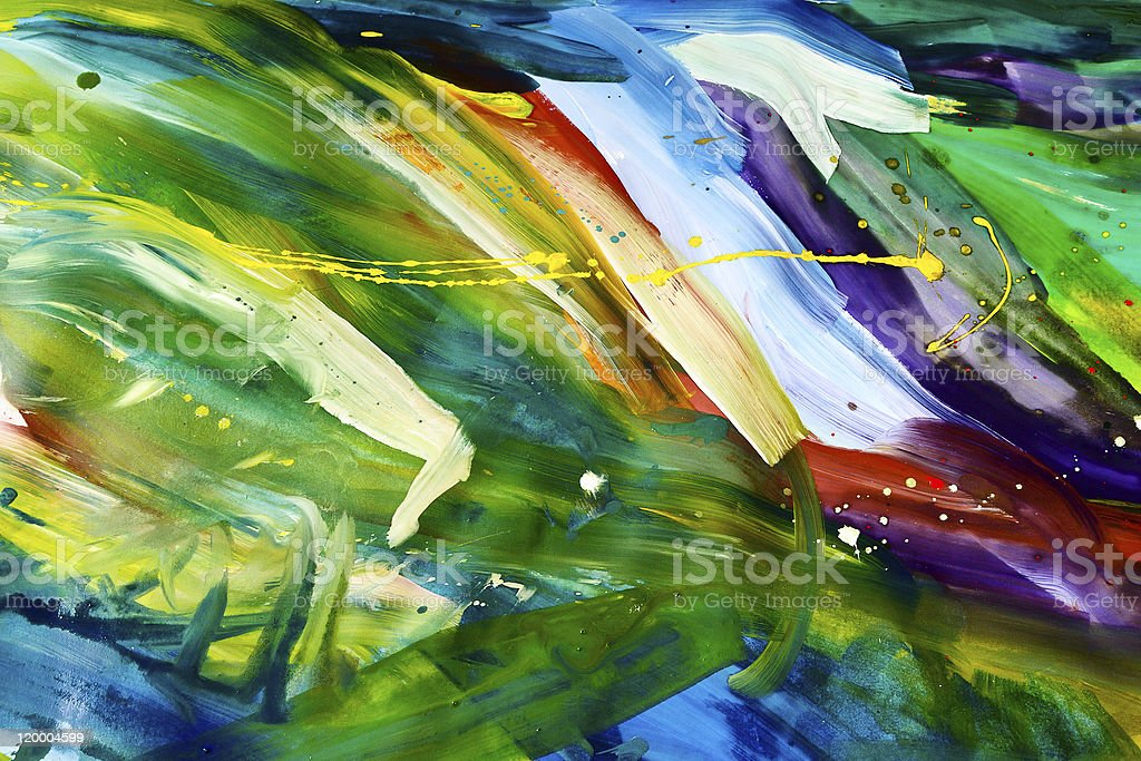 Abstract chaos painting vector art illustration