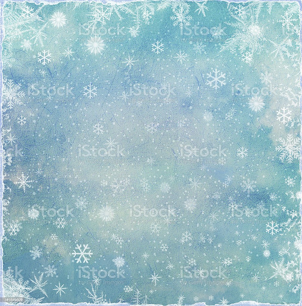 Abstract Christmas background with snowflakes royalty-free stock vector art