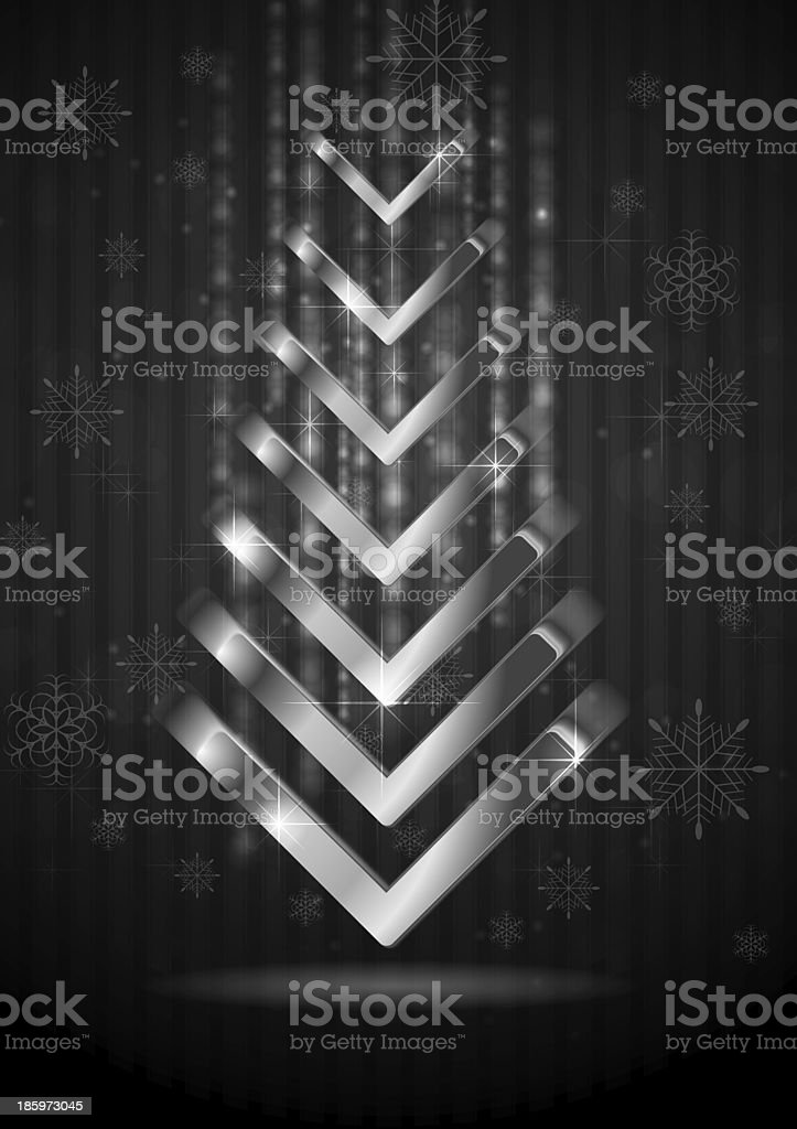 Abstract Christmas fir tree royalty-free stock vector art