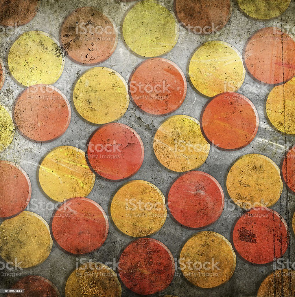 abstract circles on grunge background royalty-free stock vector art