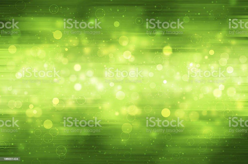 Abstract circular bokeh on green background. royalty-free stock vector art