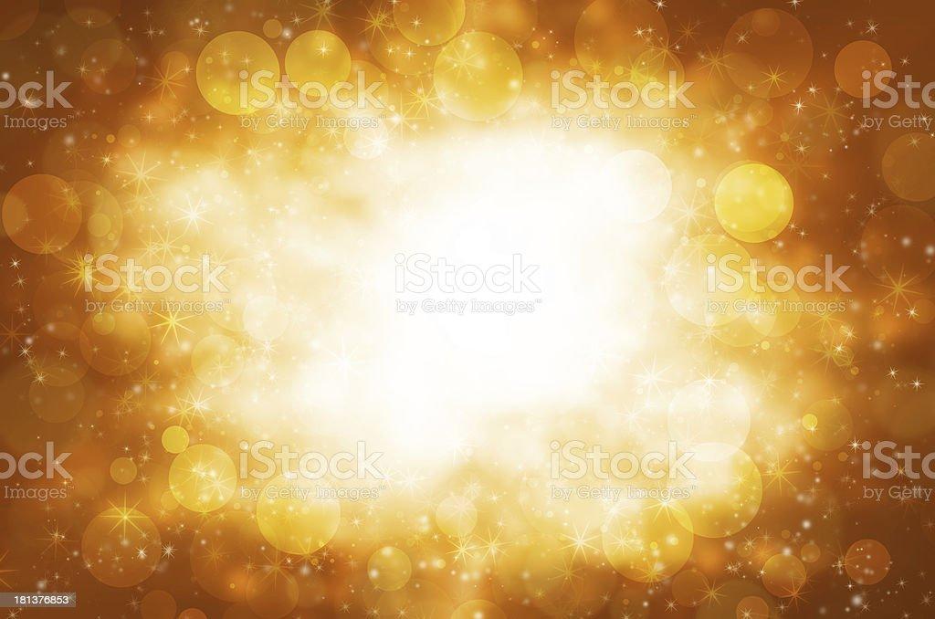 Abstract circular bokeh with golden background. royalty-free stock vector art