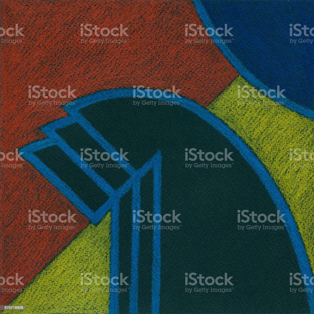 Abstract color pencil drawing. vector art illustration