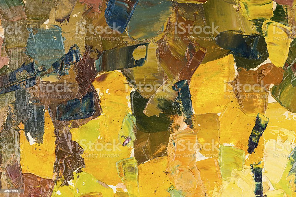 Abstract colorful background oil painting on canvas. royalty-free stock vector art