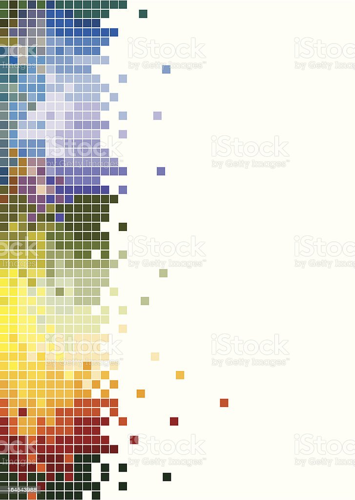 Abstract - colorful pixels vector art illustration