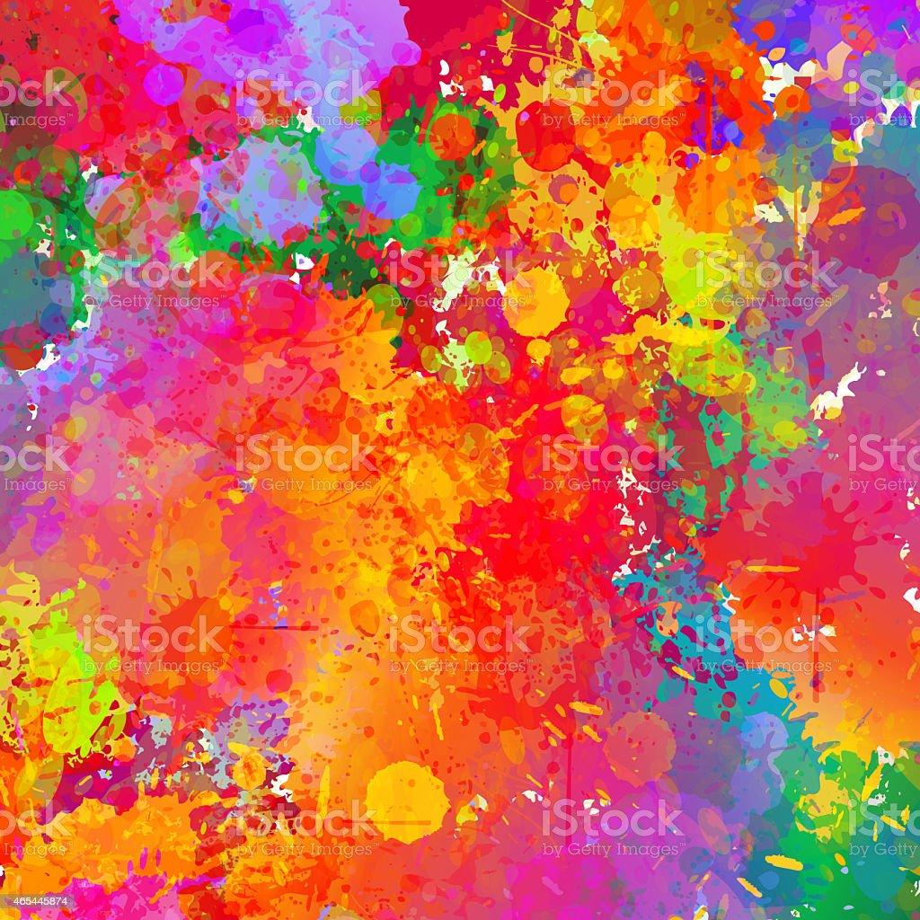 Abstract colorful splash background. vector art illustration