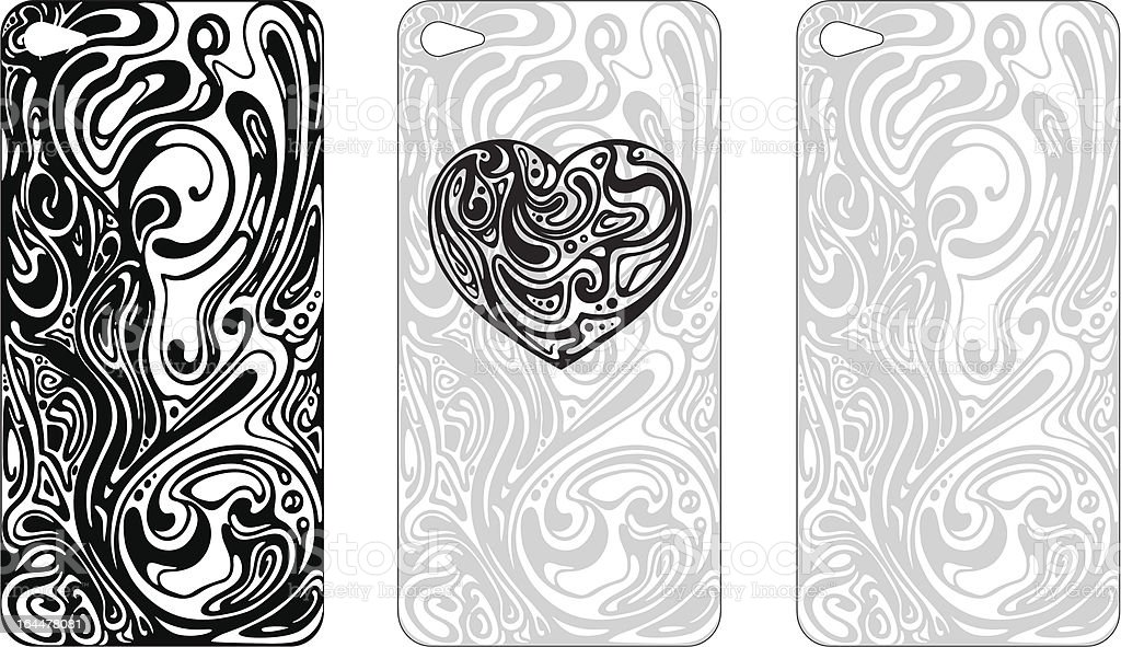 Abstract cover design for the phone's case royalty-free stock vector art