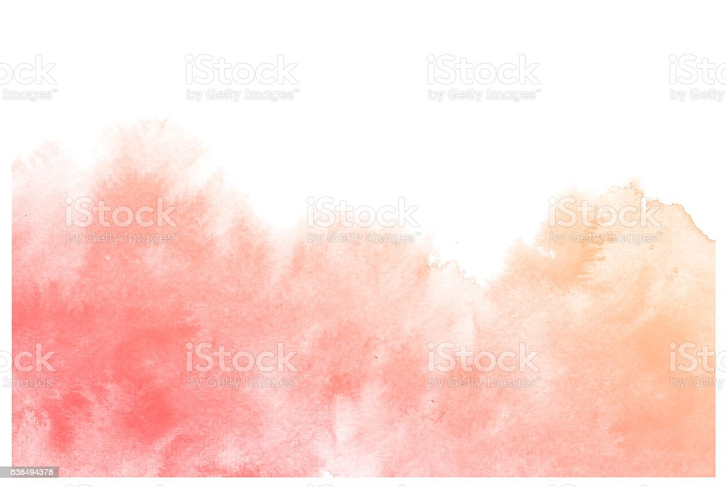 Abstract cream watercolor background. vector art illustration