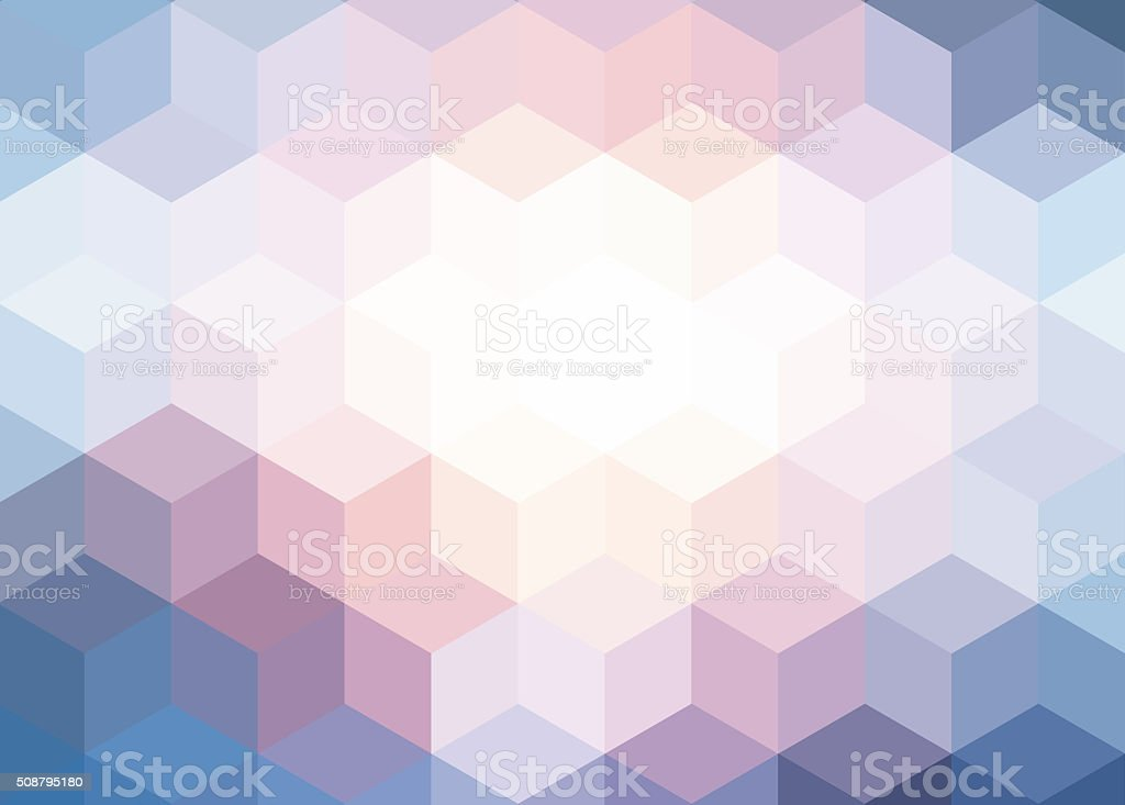 Abstract cubes background vector art illustration