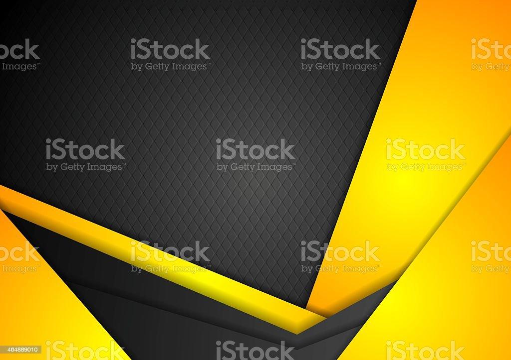 Abstract dark yellow corporate background vector art illustration
