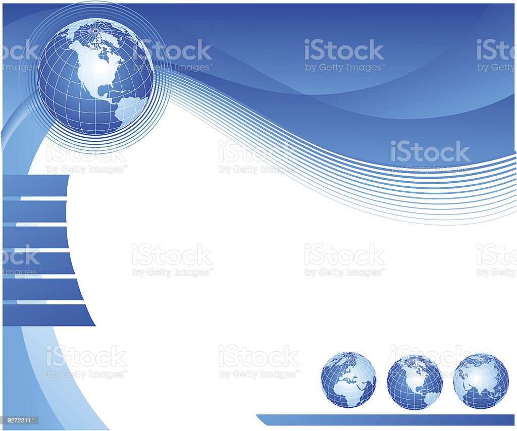 Abstract design with globe royalty-free stock vector art