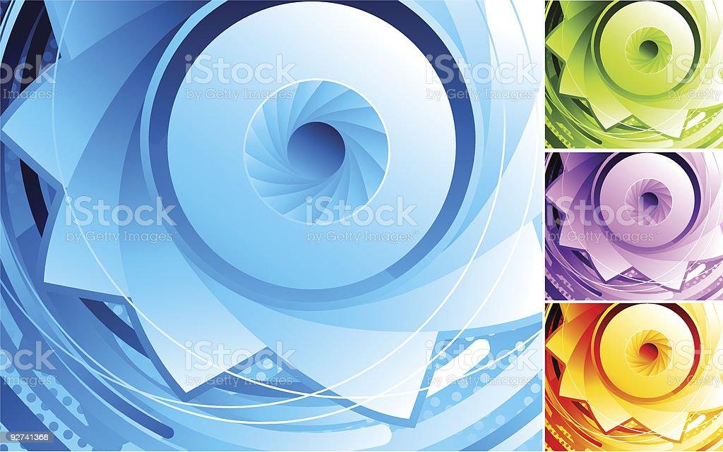 Abstract digital eye. royalty-free stock vector art