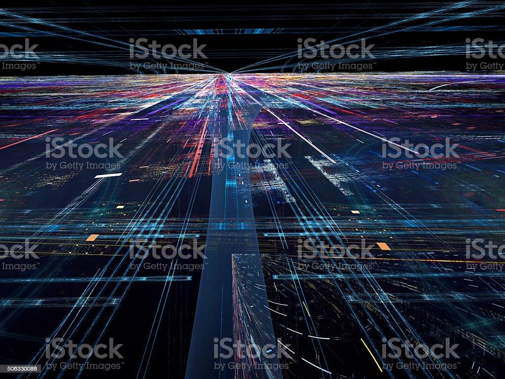 Abstract digitally generated tecnology backdrop vector art illustration