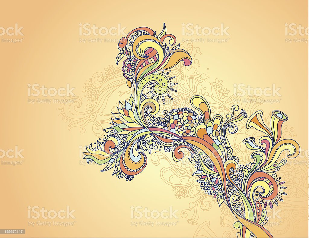 Abstract Doodle Design vector art illustration
