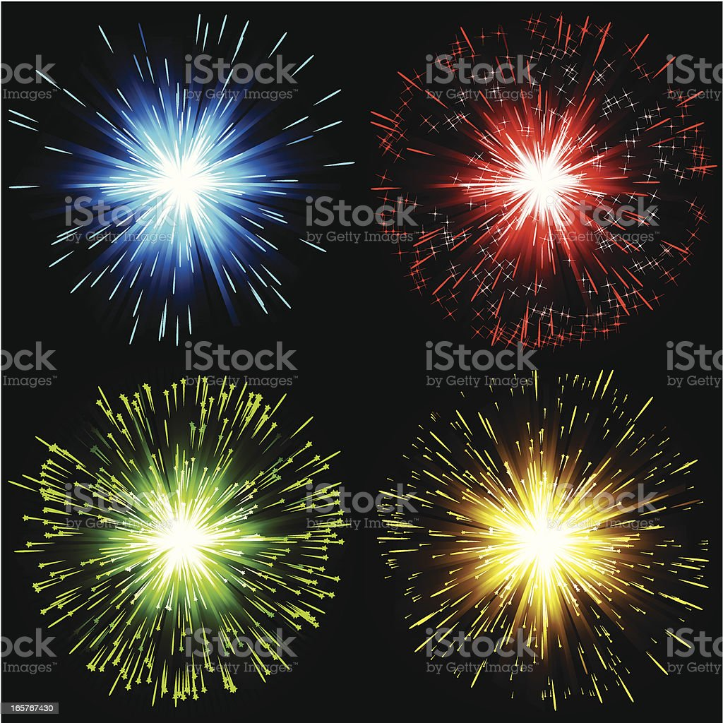 Abstract exploding banner royalty-free stock vector art