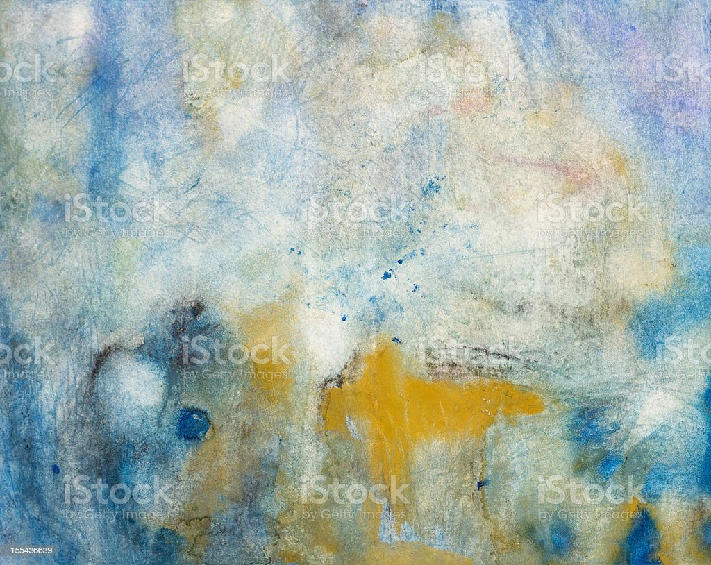 Abstract expressionism watercolor painting vector art illustration