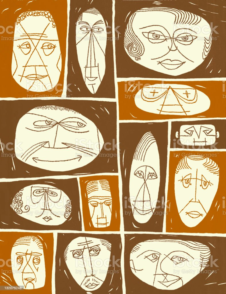 Abstract Face Collage 2 royalty-free stock vector art