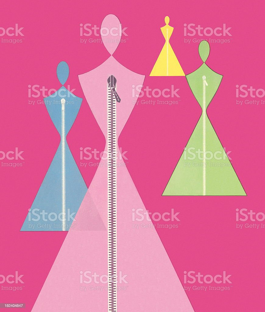 Abstract Female Forms vector art illustration