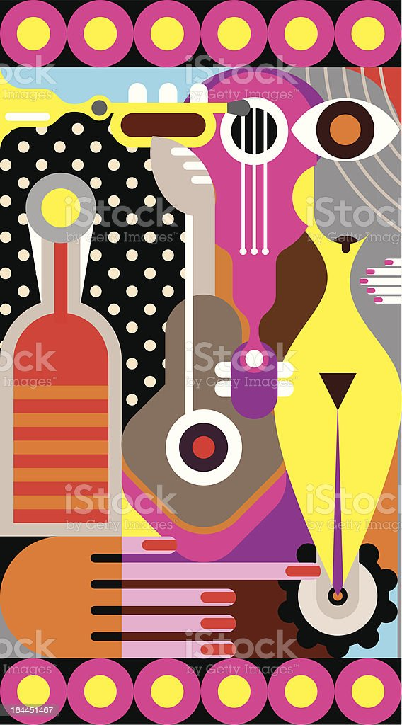 Abstract fine art vector art illustration