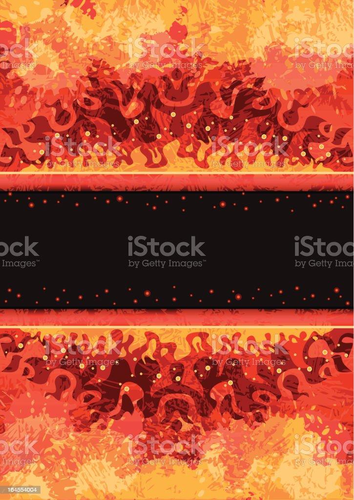 Abstract fire frame vector art illustration