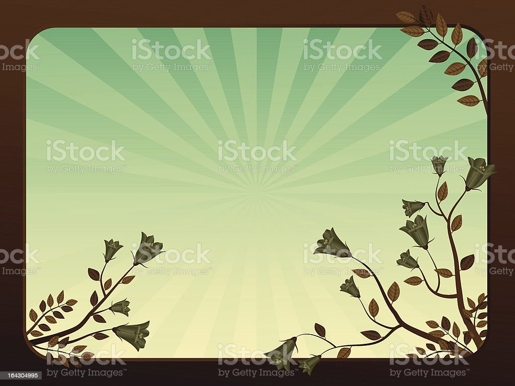 Abstract floral background - bellflower royalty-free stock vector art