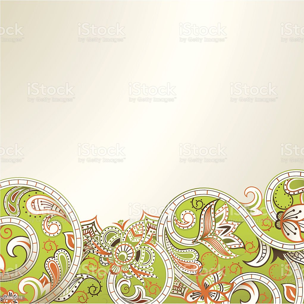 Abstract Floral royalty-free stock vector art