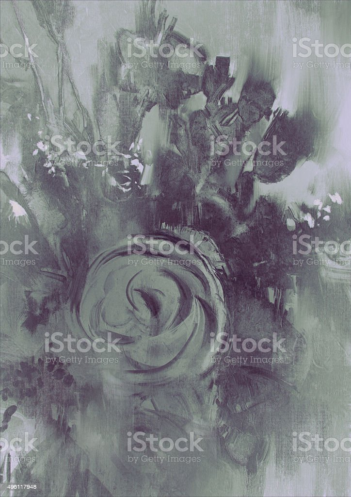 abstract flower background with gray tone vector art illustration