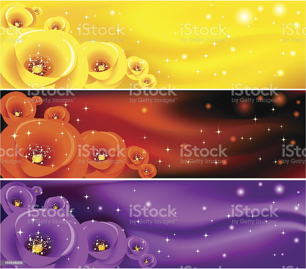 Abstract flower  banner royalty-free stock vector art