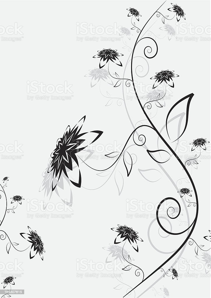 abstract flower composition royalty-free stock vector art