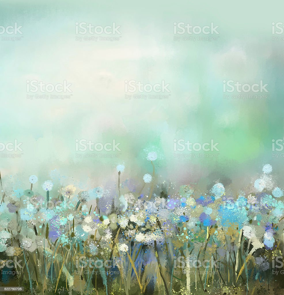 abstract flower plant painting vector art illustration