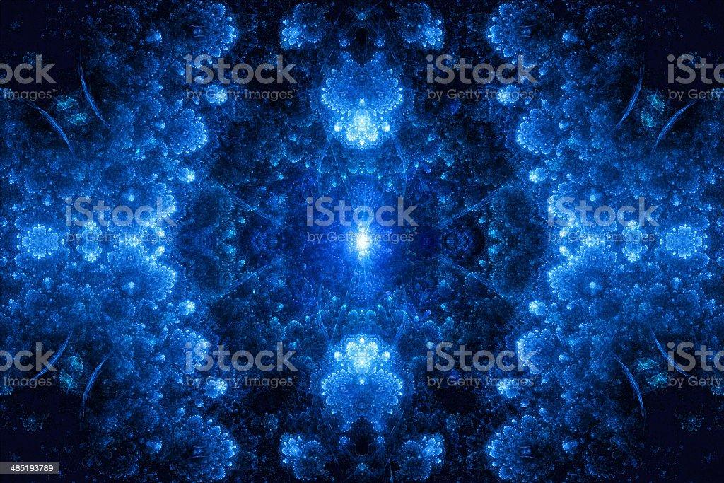 Abstract fractal crystal royalty-free stock vector art